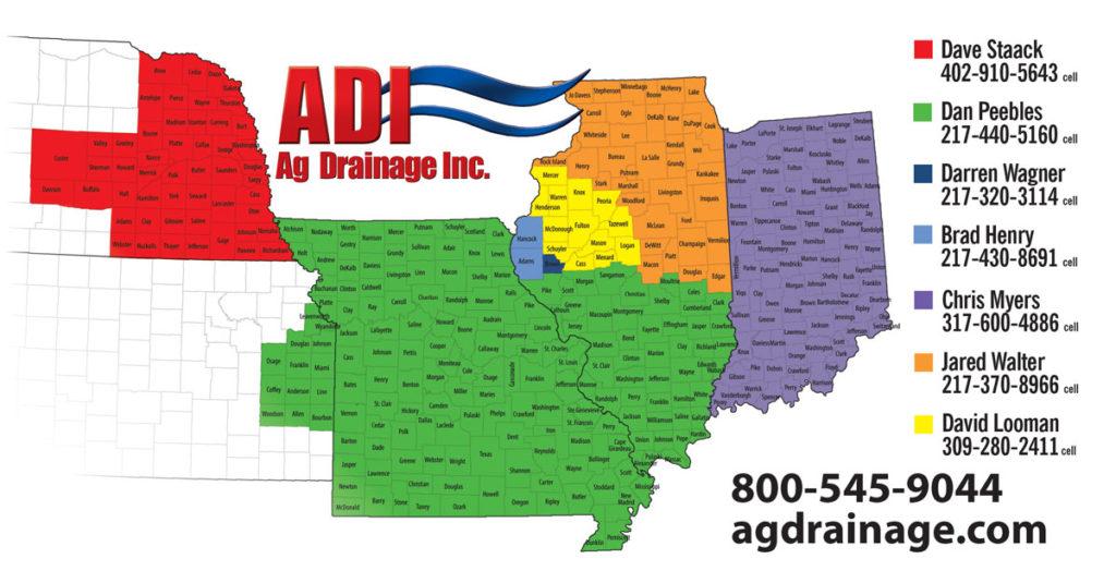 ADI Representative Territory Map